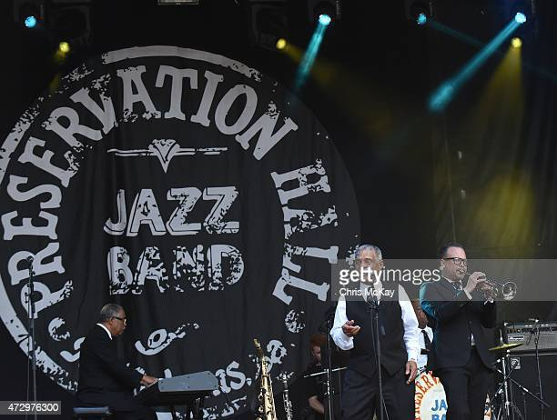 Rickie Monie Charlie Gabriel and Mark Braud of Preservation Hall Jazz Band perform during day 3 of the 3rd Annual Shaky Knees Music Festival at...