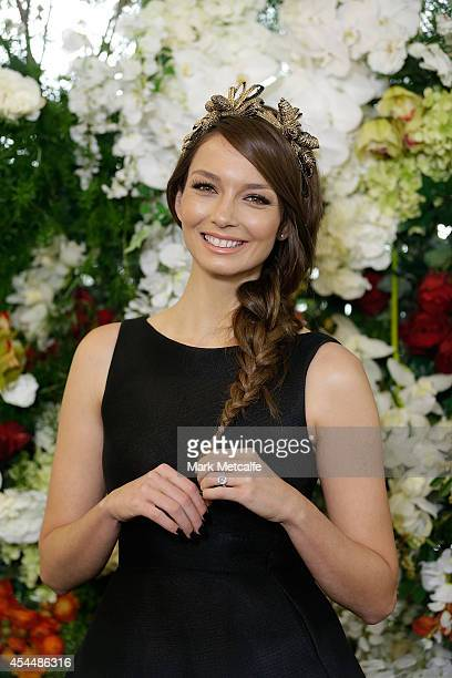 RickiLee Coulter poses at the launch of the 2014 Sydney Spring Carnival at Royal Randwick Racecourse on September 2 2014 in Sydney Australia