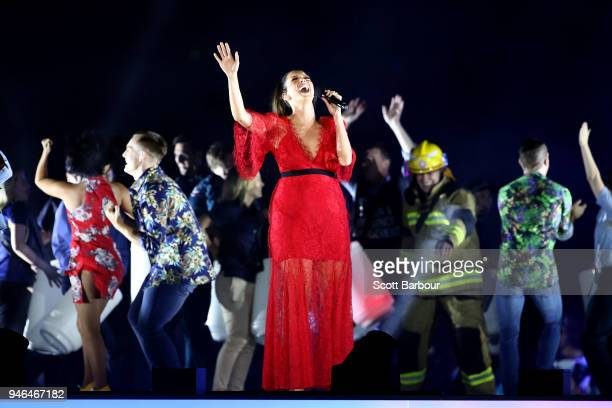 RickiLee performs during the Closing Ceremony for the Gold Coast 2018 Commonwealth Games at Carrara Stadium on April 15 2018 on the Gold Coast...