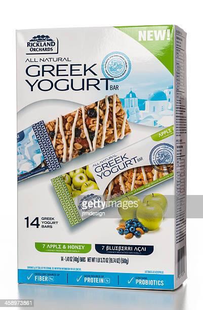 Rickland Orchards All Natural Greek Yogurt Bar Box