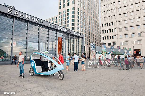 Rickshaw before Potsdamer Platz Bahnhof