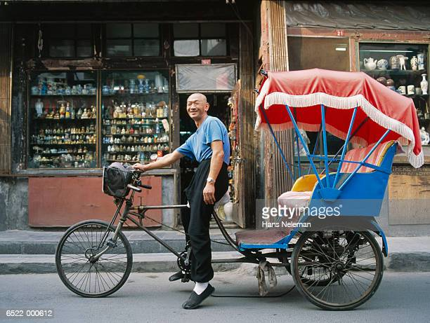 rickshaw driver - rickshaw stock pictures, royalty-free photos & images