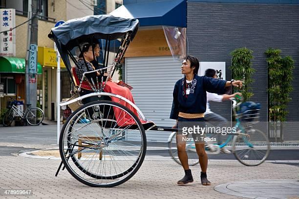 Rickshaw driver Tokyo Japan