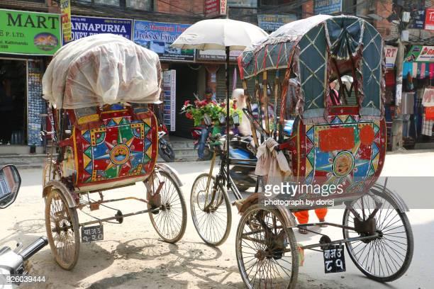 Rickshaw in Thamel street, Kathmandu