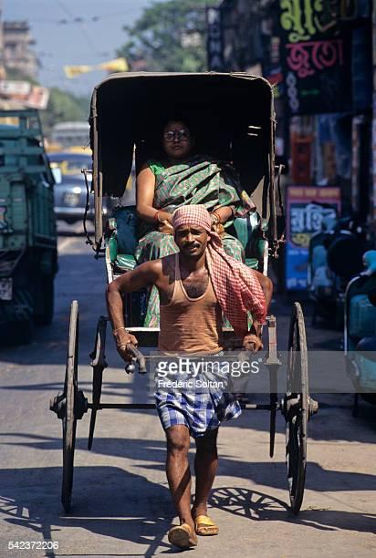 Rickshaw in the streets of Calcutta