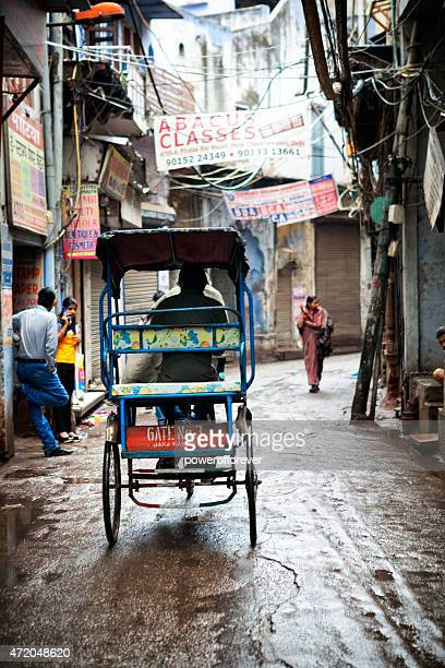 Rickshaw on the streets of Old Delhi, India