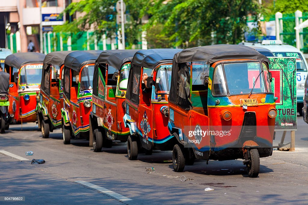Rickshaws in Jakarta, Indonesia : Stock Photo