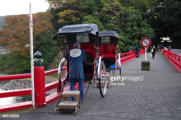 rickshaws of japan in hakone onsen - kanagawa prefecture stock pictures, royalty-free photos & images