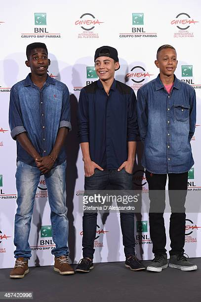 Rickson Tevez Gabriel Weinstein and Eduardo Luis attend 'Trash' Photocall during The 9th Rome Film Festival at Auditorium Parco Della Musica on...