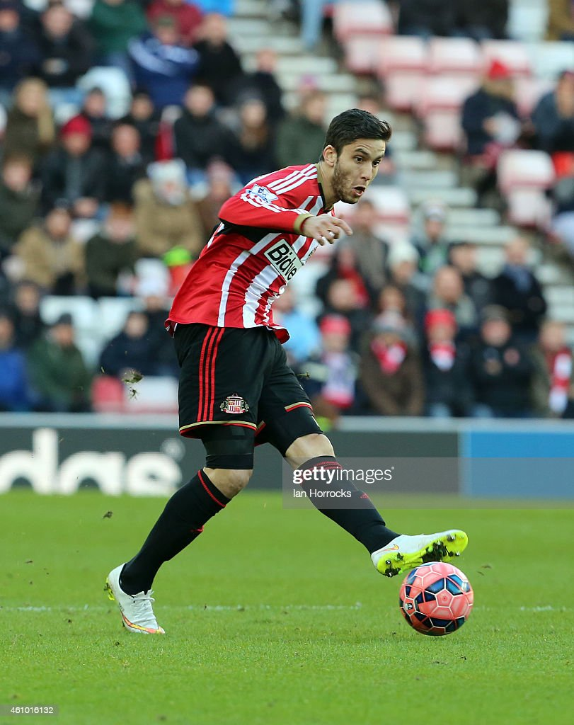 Ricky Alverez of Sunderland during the FA Cup third round match between Sunderland and Leeds United at the Stadium of Light on January 04, 2015 in Sunderland, England.