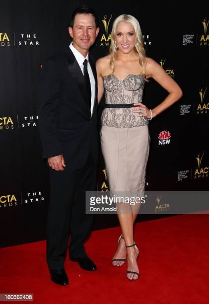 Ricky and Rianna Ponting arrive for the 2nd Annual AACTA Awards at The Star on January 30 2013 in Sydney Australia