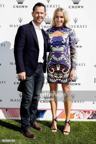 Ricky and Rianna Ponting arrives ahead of the 2018 Crown IMG Tennis Player at Crown Palladium on January 14, 2018 in Melbourne, Australia.