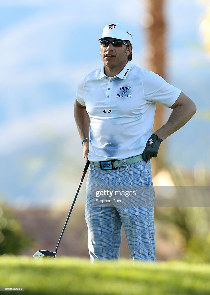 Ricky Barnes hits his tee shot on the second hole during the third round of the Humana Challenge In Partnership With The Clinton Foundation on the Palmer Private Course at PGA West on January 19, 2013 in La Quinta, California.