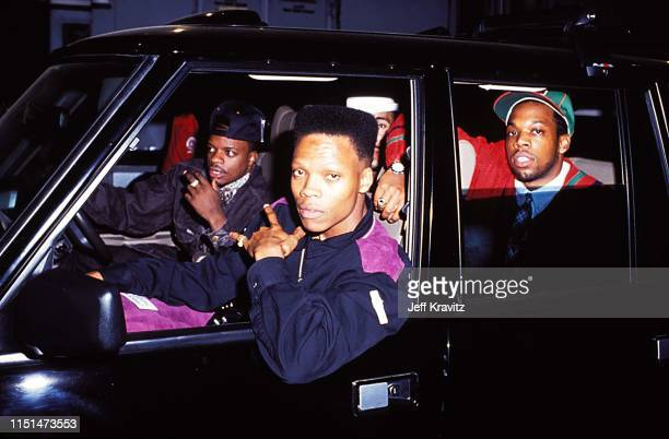 Ricky Bell Michael Bivins and Ronnie DeVoe of Bel Biv DeVoe at the 1991 MTV Video Music Awards at in Los Angeles California