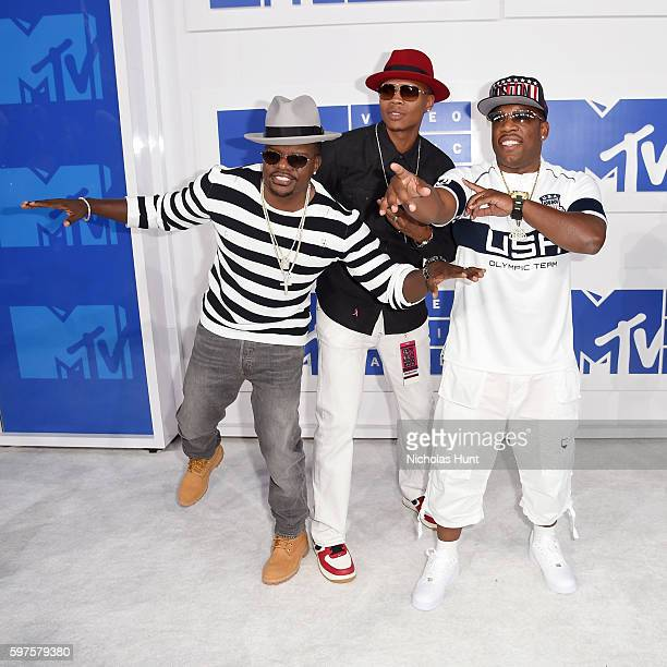 Ricky Bell Ronnie Devoe and Michael Bivins of Bell Biv Devoe attend the 2016 MTV Video Music Awards at Madison Square Garden on August 28 2016 in New...