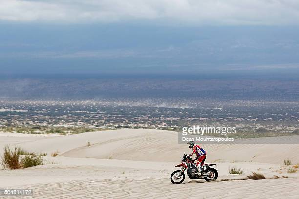 Ricky Brabec of the United States of America riding on and for HONDA CRF 450 RALLY TEAM HRC competes on day 11 stage ten between Belen and La Rioja...