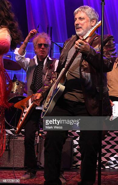 Ricky Byrd and Bobby Bandiera perform with Rockit at Count Basie Theater on August 29 2015 in Red Bank New Jersey