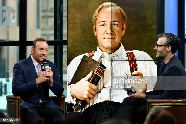 Ricky Camilleri interviews Kevin Spacey during his visit the Build Series to discuss his new play Clarence Darrow at Build Studio on May 24 2017 in...