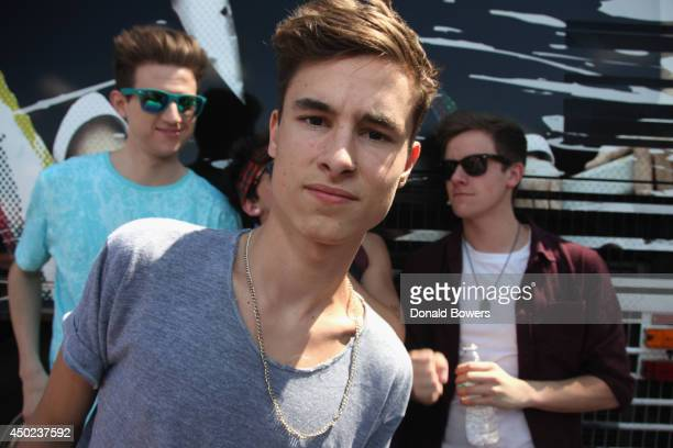 Ricky Dillon Kian Lawley and Connor Franta attend DigiTour Media Presents DigiFest NYC at Citi Field on June 7 2014 in New York City