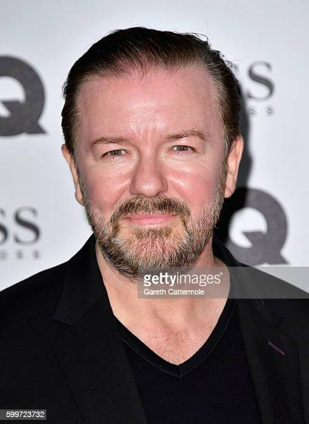 Ricky Gervais arrives for GQ Men Of The Year Awards 2016 at Tate Modern on September 6 2016 in London England