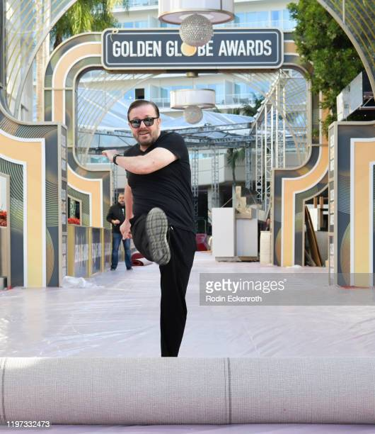 Ricky Gervais at the 77th Annual Golden Globe Awards Preview Day at The Beverly Hilton Hotel on January 03 2020 in Beverly Hills California