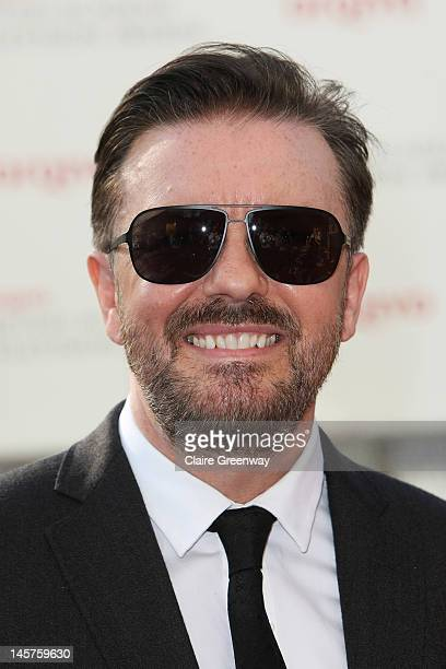 Ricky Gervais attends The Arqiva British Academy Television Awards 2012 at The Royal Festival Hall on May 27 2012 in London England
