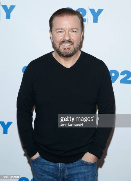 Ricky Gervais attends The Hollywood Reporter TV Talks and 92Y present Ricky Gervais in conversation with Tim Goodman at 92nd Street Y on May 20 2017...