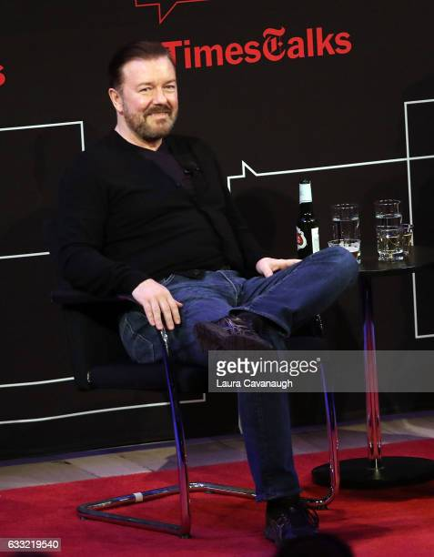 Ricky Gervais attends TimesTalk at TheTimesCenter on January 31 2017 in New York City