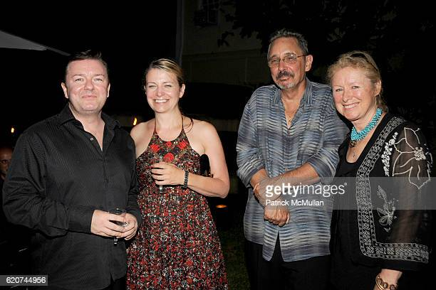 Ricky Gervais Jane Fallon Fred Murphy and Marita Murphy attend DreamWorks Pictures Screening of GHOST TOWN and After Party Hosted by SARA and PATRICK...