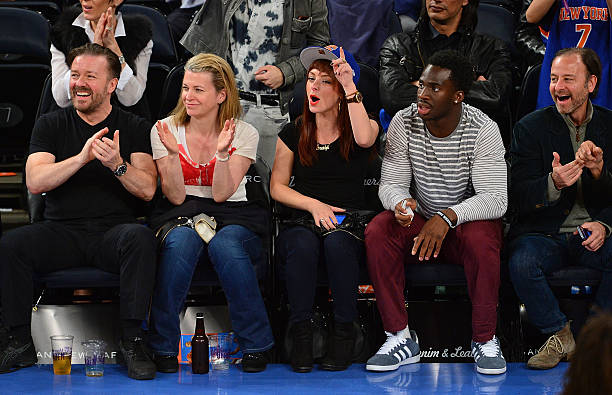Photos Et Images De Celebrities Attend The Atlanta Hawks Vs New York Knicks Game Getty Images