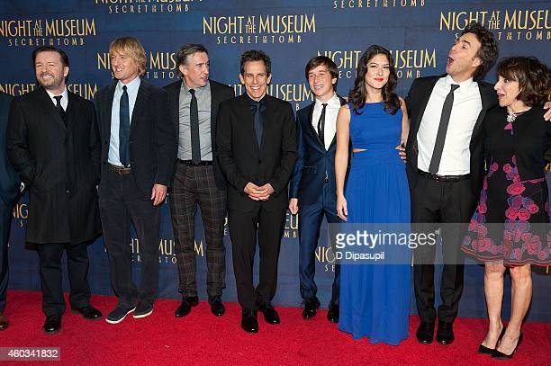Ricky Gervais Owen Wilson Steve Coogan Ben Stiller Skyler Gisondo Mizuo Peck director Shawn Levy and Andrea Martin attend the 'Night At The Museum...