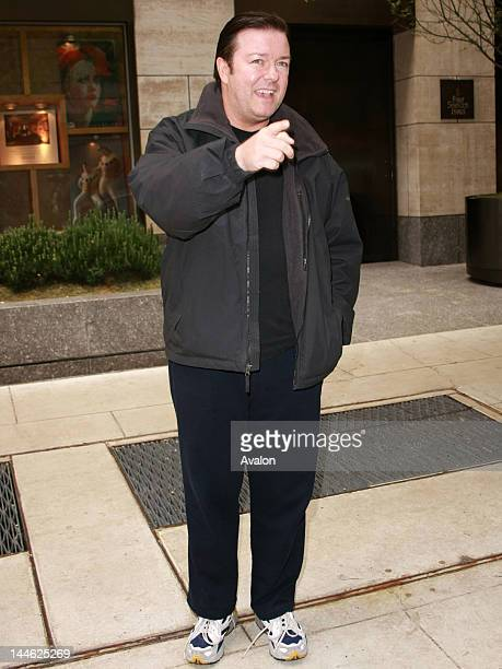 Ricky Gervais the creator of the TV series The Office departs the Four Seasons hotel on May 18 2008 in New York City New York Ricky Gervais appeared...