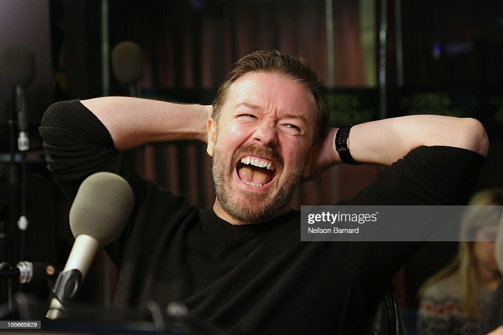 "Ricky Gervais Visits SiriusXM's ""Opie & Anthony Show"""