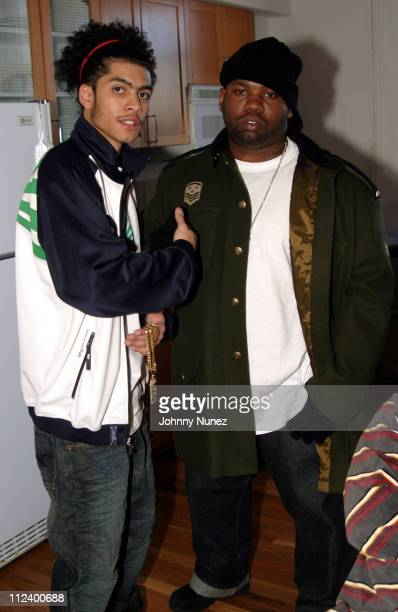 Ricky Gonzalez and Raekwon during LRG Spring Line Photo Shoot at 646 Broadway Studios in New York City New York United States