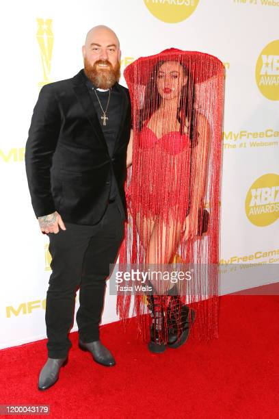 Ricky Greenwood and Whitney Wright attend the XBIZ Awards 2020 on January 16 2020 in Los Angeles California