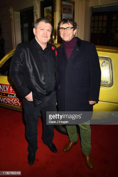 Ricky Hatton and Phil Daniels attend the opening night of Only Fools and Horses The Musical at Theatre Royal Haymarket on February 19 2019 in London...