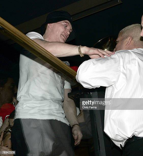 Ricky Hatton and Tito Ortiz at the Ricky Hatton PostFight party at Hard Rock's Body English Nightclub on December 8 2007 in Las Vegas Nevada
