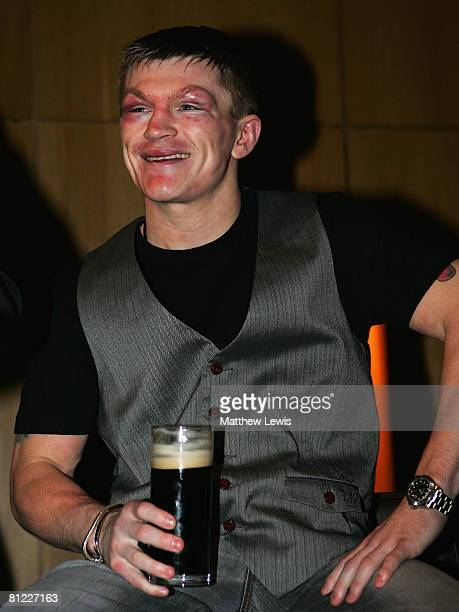 Ricky Hatton looks on during the Ricky Hatton Post Fight Party after his IBO lightwelterweight title fight against Juan Lazcano at the Hilton Hotel...