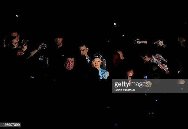 Ricky Hatton of Great Britain enters the arena ahead of his welterweight bout against Vyacheslav Senchenko of Ukraine at MEN Arena on November 24...