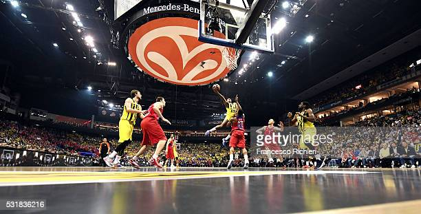 Ricky Hickman, #3 of Fenerbahce Istanbul in action during the Turkish Airlines Euroleague Basketball Final Four Berlin 2016 Championship game between...