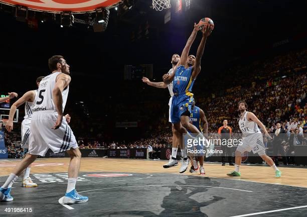 Ricky Hickman #7 of Maccabi Electra Tel Aviv during the Turkish Airlines EuroLeague Final Four Final game between Real Madrid vs Maccabi Electra Tel...