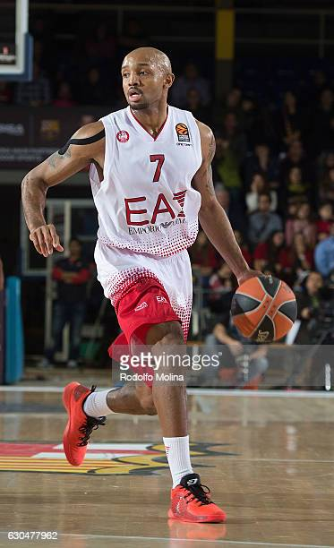 Ricky Hickman of EA7 Emporio Armani Milan in action during the 2016/2017 Turkish Airlines EuroLeague Regular Season Round 14 game between FC...
