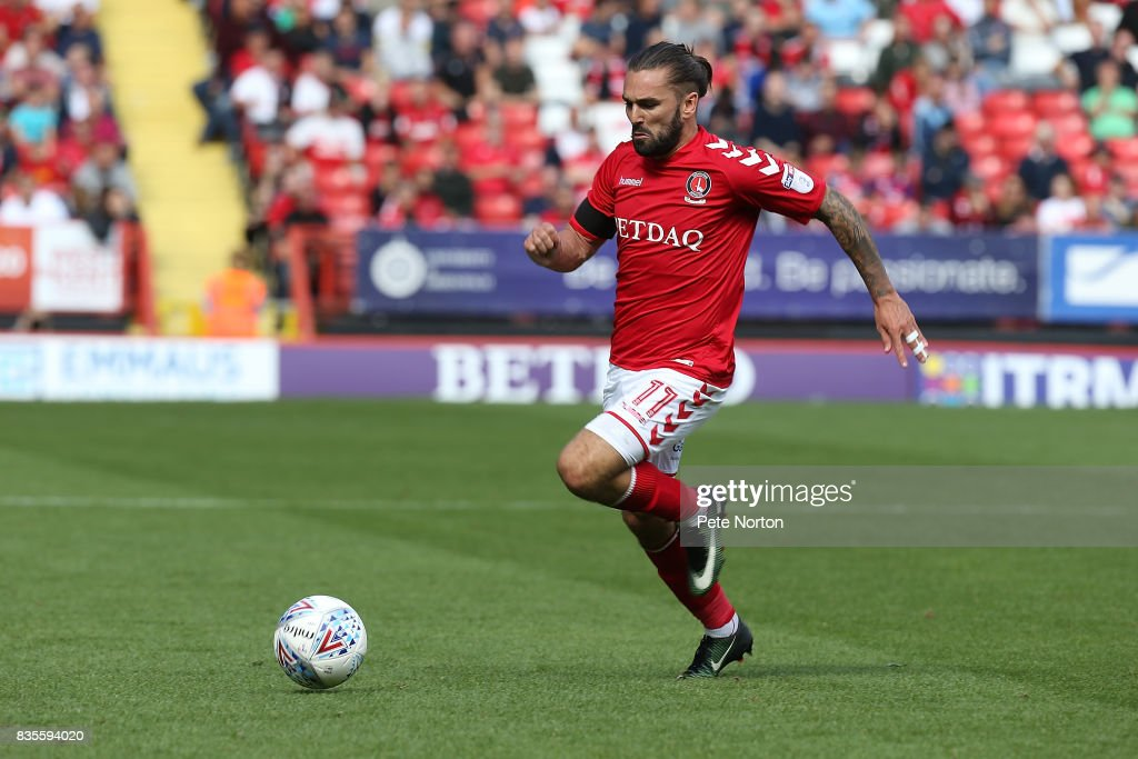 Ricky Holmes of Charlton Athletic in action during the Sky Bet League One match between Charlton Athletic and Northampton Town at The Valley on August 19, 2017 in London, England.