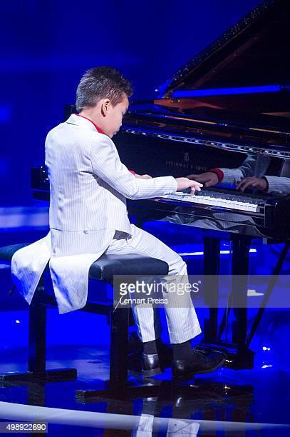 Ricky Kam performs during the 'Heiligabend mit Carmen Nebel' TV show at Bavaria Filmstudios on November 26 2015 in Munich Germany