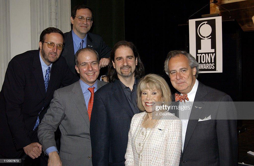Ricky Kirshner, executive producer of the 2004 Tony Awards, Howard Sherman, Jeb Bernstein, Glenn Weis, producer of the 2004 Tony Awards, Sandra Gilman and Doug Leeds