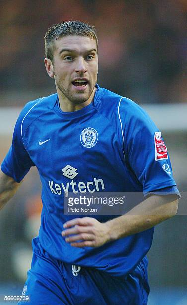 Ricky Lambert of Rochdale in action during the Coca Cola League two match between Rochdale and Northampton Town at Spotland on January 2 2006 in...