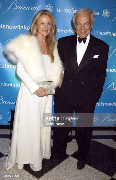 Ricky Lauren and Ralph Lauren during 2nd Annual UNICEF Snowflake Ball Arrivals at The Waldorf Astoria Hotel in New York City New York United States
