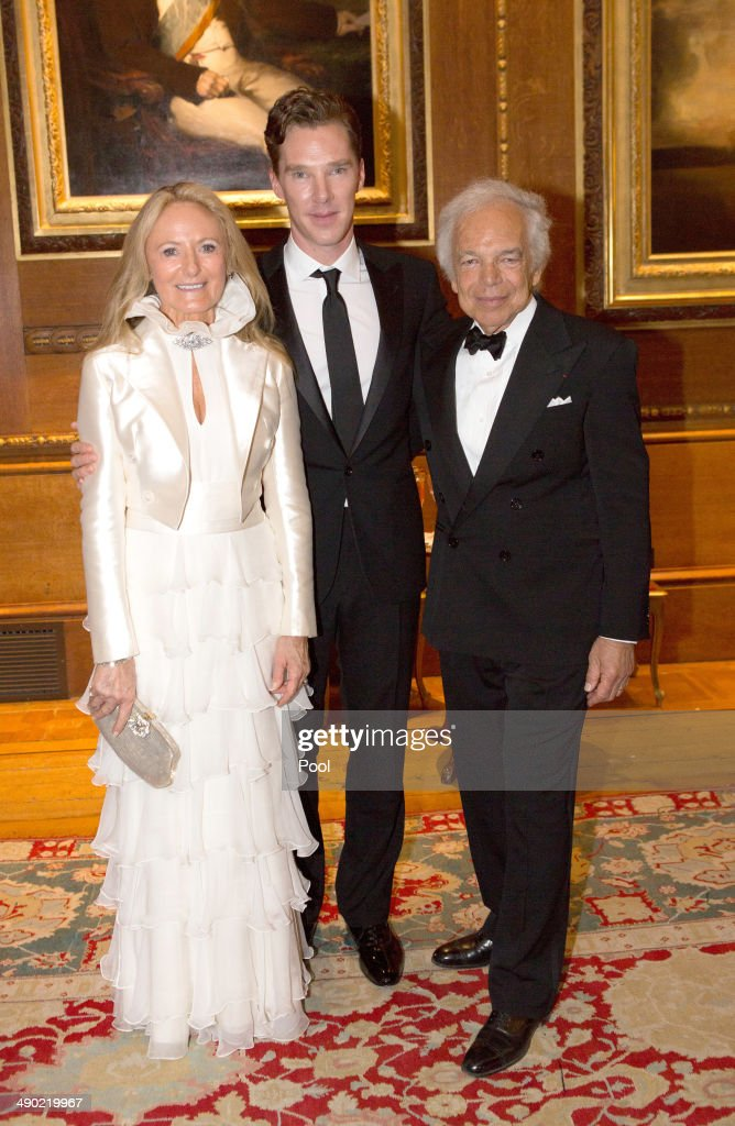 Ricky Lauren, Benedict Cumberbatch and Ralph Lauren attend a dinner to celebrate the work of The Royal Marsden hosted by the Duke of Cambridge on May 13, 2014 in Windsor, England.