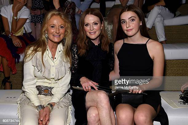 Ricky Lauren Julianne Moore and Liv Freundlich attends the Ralph Lauren fashion show during New York Fashion Week The Shows at Ralph Lauren Madison...