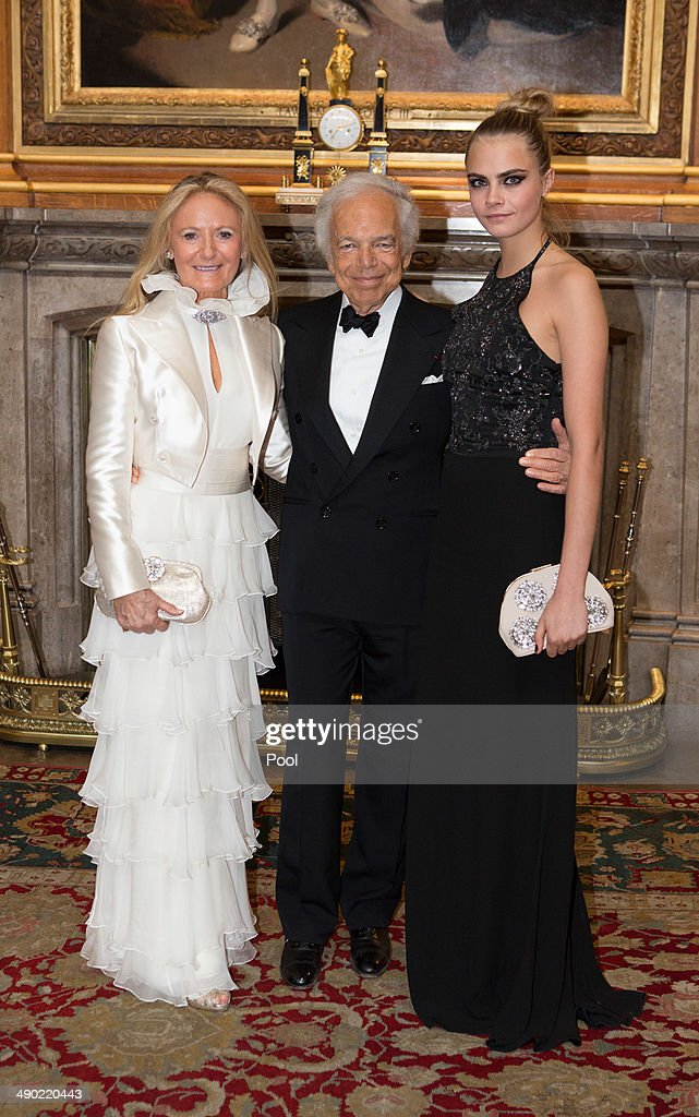 Ricky Lauren, Ralph Lauren and Cara Delevingne attend a dinner to celebrate the work of The Royal Marsden hosted by the Duke of Cambridgeon May 13, 2014 in Windsor, England.